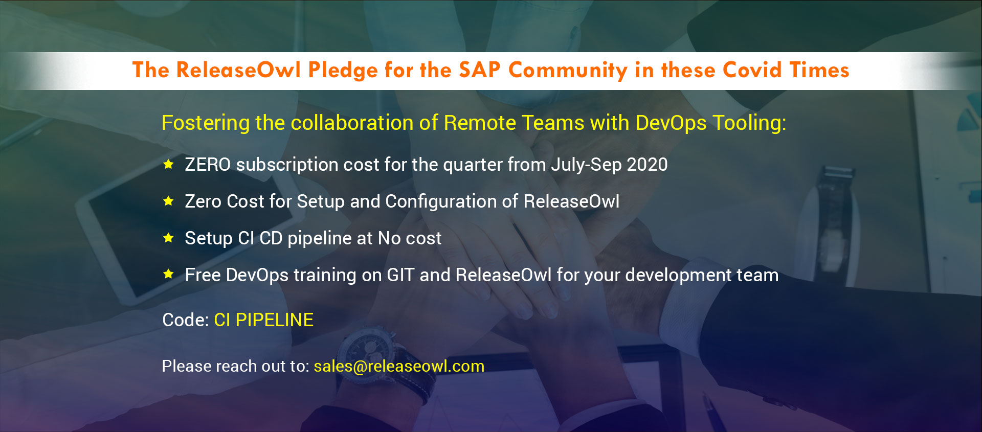 The ReleaseOwl Pledge for the SAP Community in these Covid Times